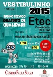 Vestibulinho ETEC Com. João Rays NAVAL